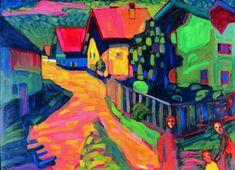 Calle de Murnau. Kandinsky 1908. Expresionismo alemán (Jinete Azul)