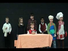 A Soup Opera - performed by kindergarteners!  (HILARIOUS!!!!!)  I saw the author/songwriter, Jim Gill, speak at a kindergarten convention, and he showed this video.  It is probably one of the funniest, most fantastically awesome things I've ever seen, and we WILL be doing this in my classroom :)-