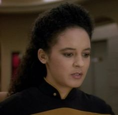 "Sabrina LeBeauf as Ensign Giusti in ""Star Trek: the Next Generation"" (ep. Gambit))"