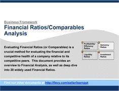 Financial Ratios Lecture  Accounting  Ratios And Financial