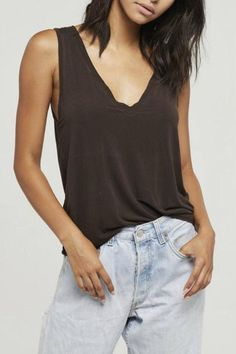 Slim/relaxed fitted tank with stretch that feels good all around. Easy to layer and tuck - This Spring staple is an instant fav.   Jupiter Tank by Project Social T. Clothing - Tops - Tees & Tanks Clothing - Tops - Casual California