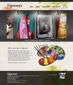 Figments Art Gallery #website #bluetonemedia #design #art