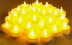 Instapark LCL48 Flameless LED Tea Light Tealight Candle Candles 4-Dozen Pack
