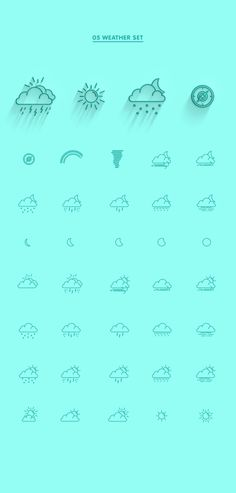 EIGHT LINE ICON SETS by Jonas Nullens, via Behance