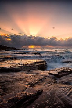 Sunrise at Sydney Northern Beaches.
