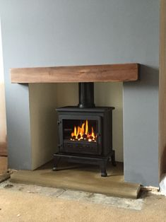 Newest Free of Charge Fireplace Remodel hearth Tips Another job done Mauve Living Room, Living Roon, Paint Colors For Living Room, Living Room Remodel, Wood Burner Fireplace, Dining Room Fireplace, Log Burner Living Room, Cottage Shabby Chic, Snug Room