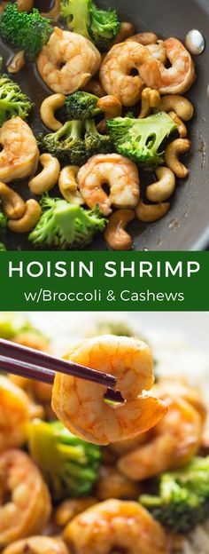 This Hoisin Shrimp with Broccoli and Cashews is perfect for those days when you need a weeknight dinner that's super easy to make and ready in only 20 minutes.