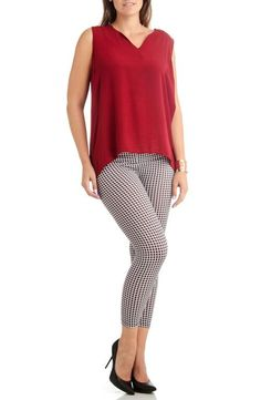 7b1858088fa Plus Size 2D Geometric Ankle Leggings
