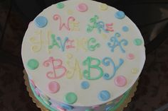 baby announcement cake
