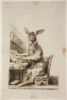 Goya en El Prado: Sueño 26 (?). El Asno Literato, 1796-97