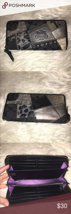 Authentic Coach Wallet Large wallet with lots of space! Coordinates perfectly with black studded purse! Coach Bags Wallets
