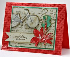 "♥ this gorgeous card by Ann Schach from The Stampin' Schach.  Features the Stampin' Up! stamp set ""Postage Due""."