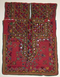 Antique tribal banjara Hand-stitched dress front choli womens Folk Embroidery