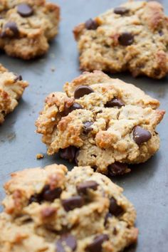 Chip cookies, low carb chocolate, healthy cookies, paleo treats, brownie re Paleo Chocolate Chip Cookie Recipe, Paleo Chocolate Chips, Paleo Cookies, Low Carb Chocolate, Delicious Chocolate, Homemade Chocolate, Chocolate Cookies, Paleo Sweets, Paleo Dessert