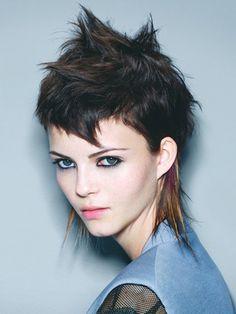 Short Choppy Punk Mullet Haircut For Girls - New Short Punk Hairstyles for Women