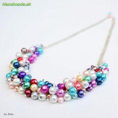 Farebné perličky - Náhrdelníky | handmade.sk - ručná výroba, výrobky, ručná práca, predaj, obchod