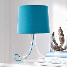 Tischleuchte / blue table lamp  #impressionen