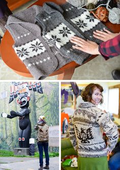 The Cowichan influence: a Q&A with Andrea Rangel - Fringe Association Knitting Yarn, Hand Knitting, Knitting Patterns, Knitting Ideas, Vest Pattern, Free Pattern, Cowichan Sweater, Templer, Sweater Making