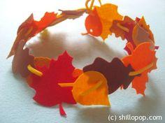 autumn leaf crown felt