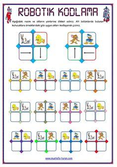 Kodlama Dyslexia Activities, Special Education Activities, Montessori Activities, Kids Education, Preschool Writing, Preschool Worksheets, Coding For Kids, Math For Kids, Visual Perceptual Activities