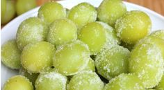 Wine Marinated Frozen Grapes