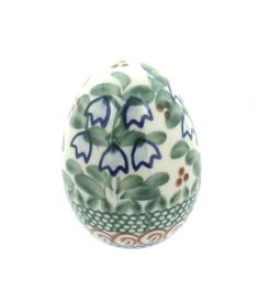 Bluebell Small Decorated Egg - Blue Rose Polish Pottery
