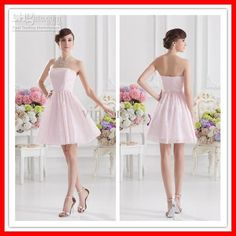 Wholesale 2013 Latest Fashionable Sexy Pink Lace Short Cheap Simple Bridesmaid Dresses Party Dress xyy07-084, Free shipping, $87.36-107.52/Piece | DHgate#s2-3-null