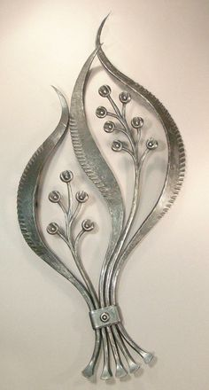 Desert Flower 4.  Hand-forged steel art by Santa Fe blacksmith Ward Brinegar.