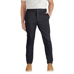 Dickies Men's Slim Skinny Fit Flex Twill Pant- Black 32x32