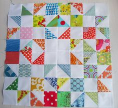 half square trianges, the block, great for brown bag special