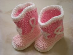 Pink Cowgirl Boots Crocheted Booties by verycutecreations on Etsy, $9.00