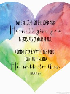 Psalm 37:4-5   ~free printable from Shannon at Sweet Blessings