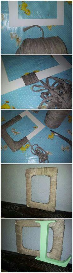 Fotolijstje maken met touw