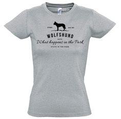 T-Shirt Women Hund Hunde WOLFSHUND Vintage Logo fun Siviwonder bis XXL/42