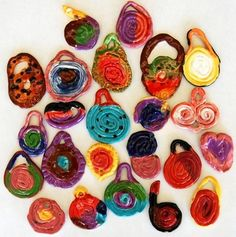 I think I could make these out of super sculpey with my girls - they'd love a spiral pendant!