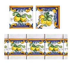 Decori su piatrelle 10x10 2 Rice Paper Decoupage, Mexican Pattern, Art Nouveau Tiles, Tuile, Tile Murals, Border Pattern, Tile Patterns, Sicily, Design Process