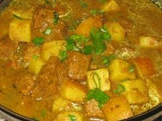 St.Lucian Curried Beef    http://tastestlucia.wordpress.com/recipes/curried-beef/