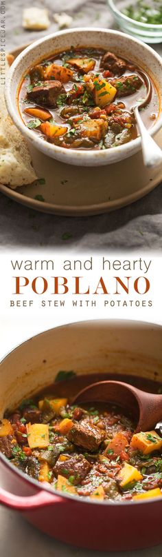 "Hearty Poblano Beef Stew - a beef stew that's been amped up with roasted poblanos and chipotle peppers! So good you'll forget about your old stew recipe! <a class=""pintag searchlink"" data-query=""%23beefstew"" data-type=""hashtag"" href=""/search/?q=%23beefstew&rs=hashtag"" rel=""nofollow"" title=""#beefstew search Pinterest"">#beefstew</a> <a class=""pintag"" href=""/explore/stew/"" title=""#stew explore Pinterest"">#stew</a> <a class=""pintag searchlink"" data-query=""%23poblanobeefstew"" data-type=""hashtag"" href=""/search/?q=%23poblanobeefstew&rs=hashtag"" rel=""nofollow"" title=""#poblanobeefstew search Pinterest"">#poblanobeefstew</a> 