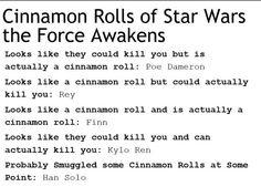 Cinnamon rolls of The Force Awakens