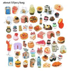 16-70 pcs/bag Vingate style adhesive paper sticker Scrapbooking stationery