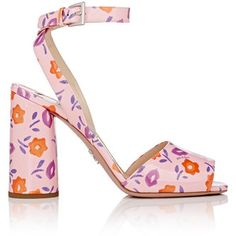 Prada Women's Patent Leather Ankle-Strap Sandals