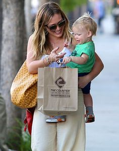 Hilary Duff with baby Luca