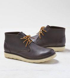 Brown AEO Leather Chukka