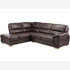 Clarence Corner Sofa Right Hand - Brown Leather Corner Sofa Right Hand, Oak Furniture Land, Solid Oak, Furniture Making, Brown Leather, Lounge, Living Room, Couches, Home Decor