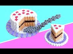 Torta 3D con Pyssla / Hama Beads/ Perler Beads Cake 3D Tutorial - YouTube