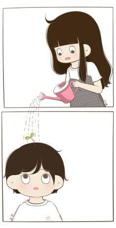 Nai Kar sakthi ha tu ajj hi Kar ka Dekha I trust on u Love Cartoon Couple, Chibi Couple, Cute Love Cartoons, Cute Couple Art, Anime Love Couple, Cute Anime Couples, Cute Cartoon Wallpapers, Cartoon Pics, Cute Bear Drawings