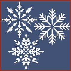 Snowflake Stencil Set 2 Christmas The Artful Stencil  Snowflakes on navy background x 3 pictures for ceremony room