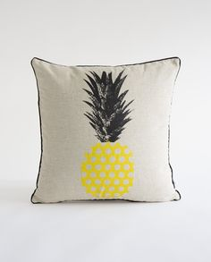 Buy Yellow - Retro Spot Pineapple Cushion | Mybuckett.com | Homeware | Home Decor | Cushions | Apparel