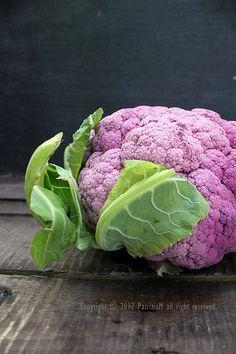 I love purple cauliflower! Tastes a little different than the white cauliflower.