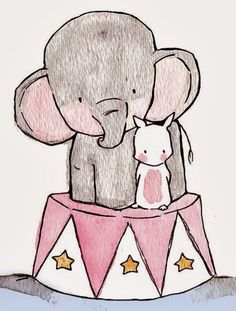 Elephant & little bunny